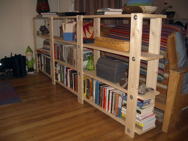 how to build simple bookshelves