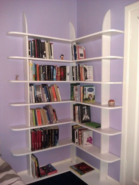 40 easy diy bookshelf plans guide patterns for Diy modern bookshelf