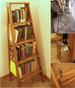 DIY Ladder Bookcase