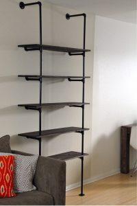 DIY Pipe Bookshelf