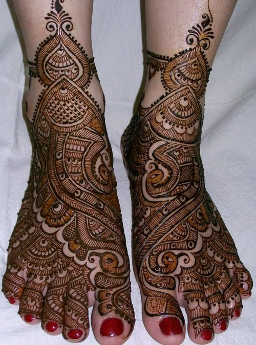 Feet Mehndi Design Pic : Beautiful bridal mehndi designs guide patterns
