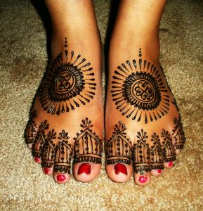 Henna Design on Feet