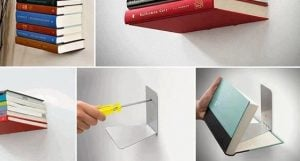 Invisible Bookshelf DIY