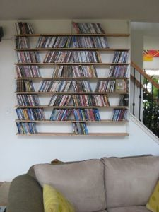 Wall Bookshelf Plan