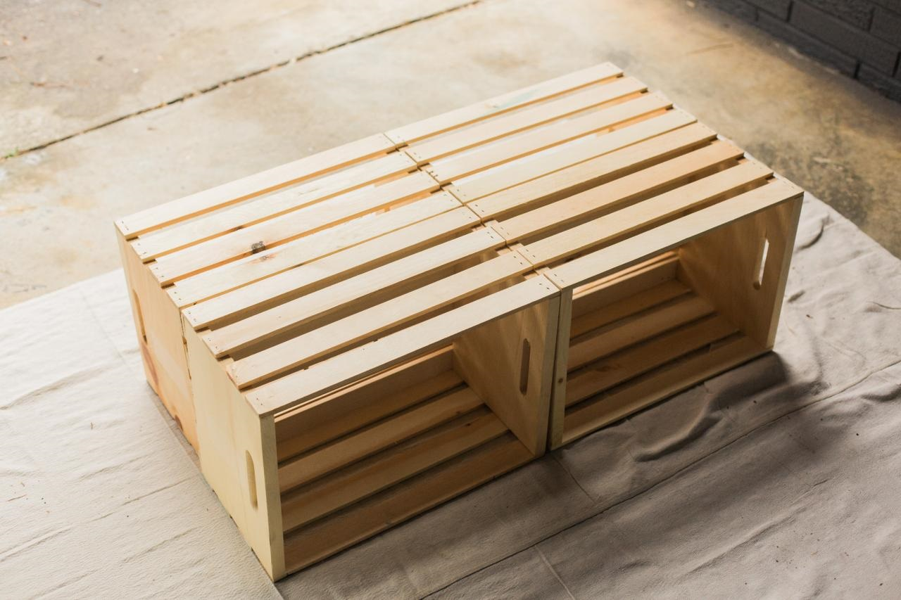 20 diy wooden crate coffee tables guide patterns ForCoffee Table Made Out Of Wooden Crates