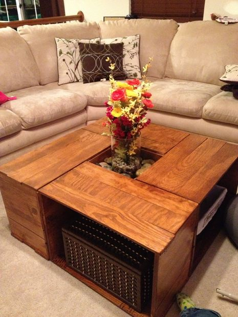 Crate Coffee Table - 20 DIY Wooden Crate Coffee Tables Guide Patterns