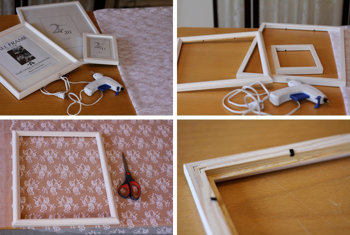 homemade photo frame