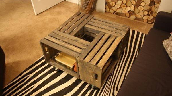 Rustic Crate Coffee Table - 20 DIY Wooden Crate Coffee Tables Guide Patterns