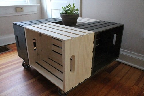 Wine Crate Coffee Table Picture