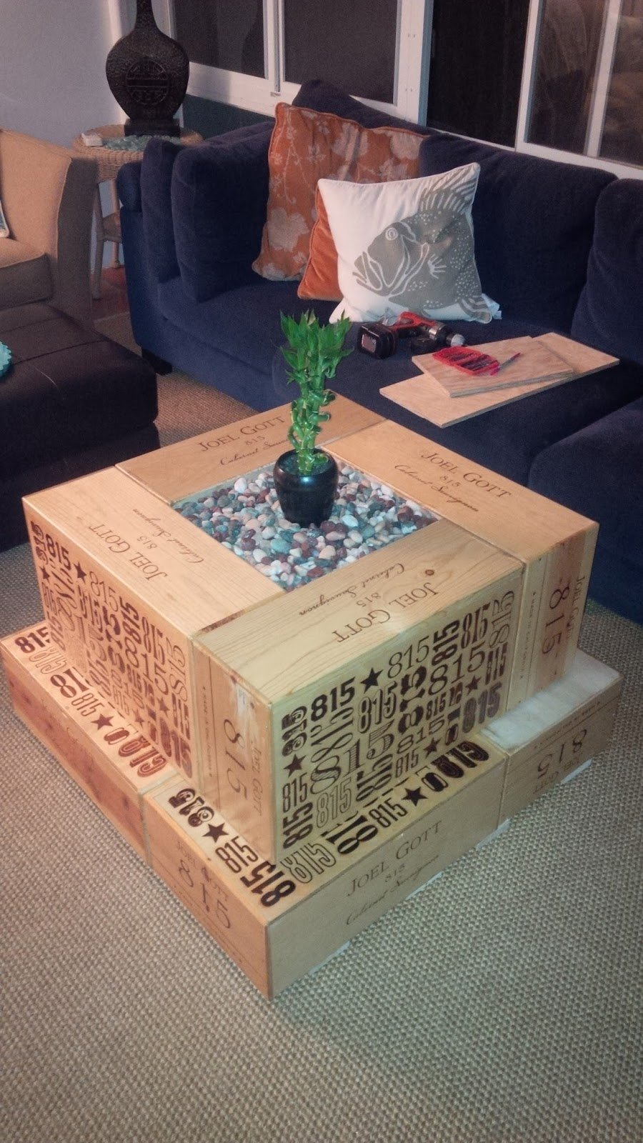 Beau Wood Crate Coffee Table DIY