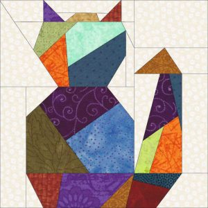 Paper Pieced Cat Pattern