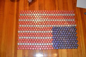 American Flag Beer Cap Table