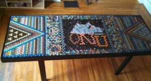 Beer Cap Beer Pong Table