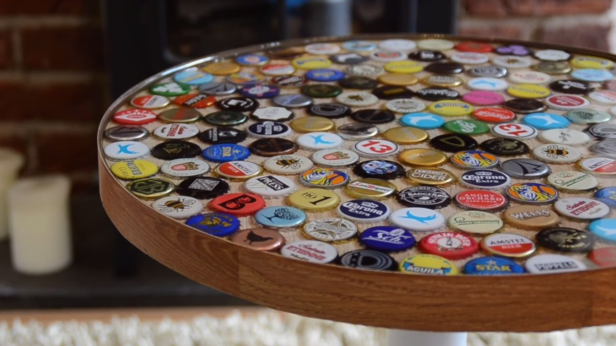 18 DIY Beer Bottle Cap Table Designs Guide Patterns