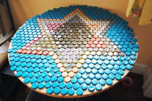 Bottle Cap Resin Table