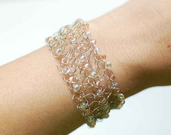 Crocheting With Wire : Crochet wire bracelet