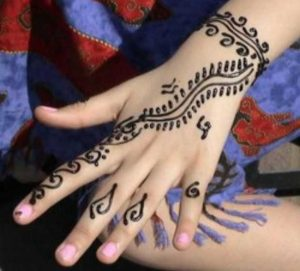 Easy Henna Design for Kids