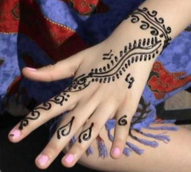 Hand Mehndi Easy Design : Simple mehndi designs for kids guide patterns