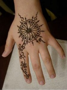 Flower Henna Design for Kids