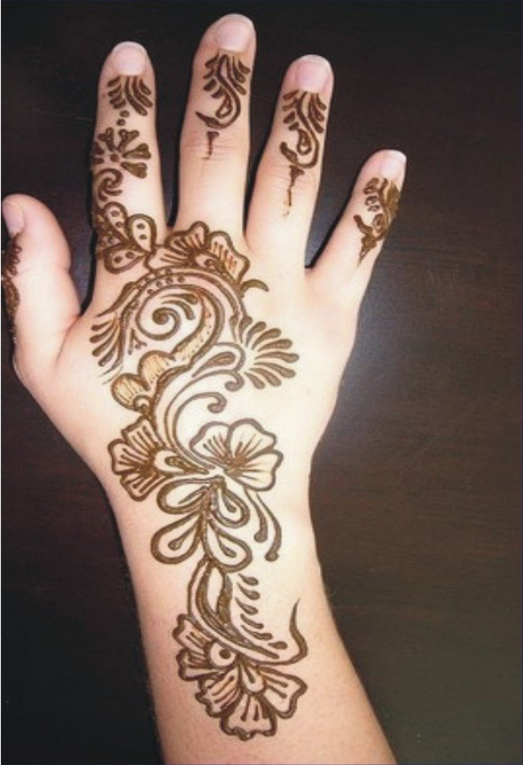 15 simple mehndi designs for kids guide patterns. Black Bedroom Furniture Sets. Home Design Ideas