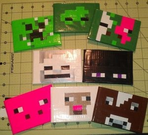 Minecraft Duct Tape Wallet