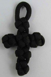 Paracord Cross Keychain