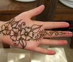 Simple Flower Henna Design for Kids