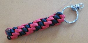 Two Color Paracord Keychain