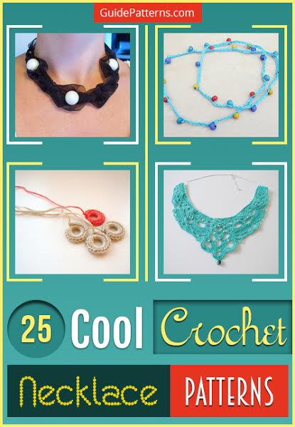 How to Make Crocheted Beads and Crocheted Beads Necklace Free ... | 599x415
