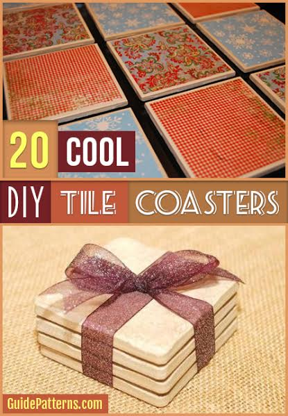 20 Cool Diy Tile Coasters Guide Patterns
