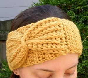 Crochet Bow Ear Warmer Pattern