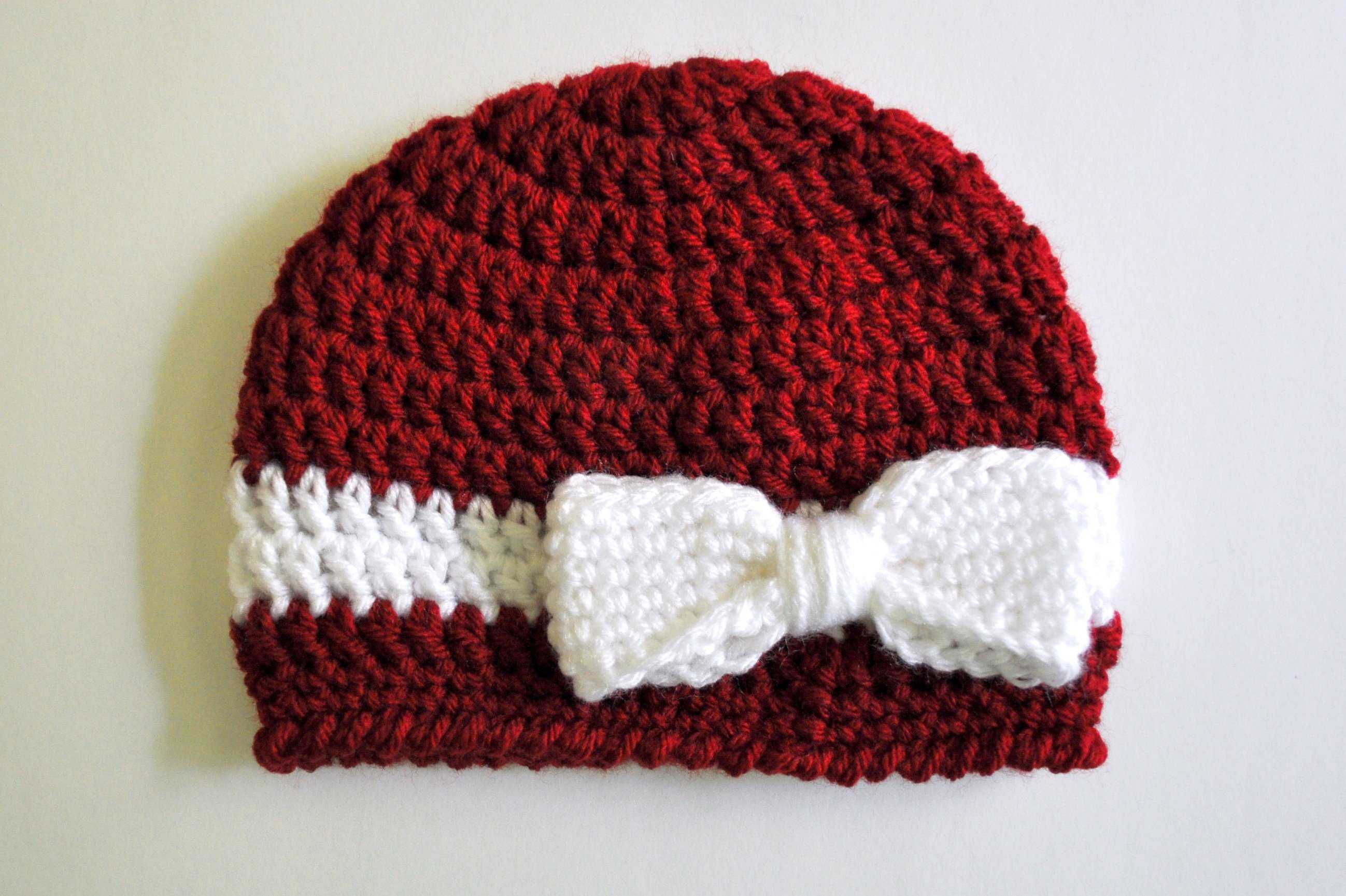 Free Crochet Pattern For A Newborn Hat : 25 Easy Crochet Bow Patterns Guide Patterns