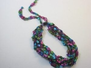 Crochet Ribbon Necklace