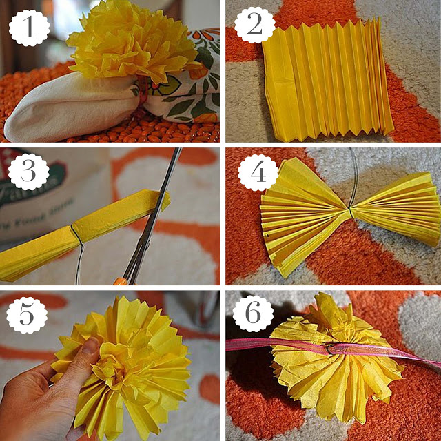 Tutorial: Tissue Paper PomPoms