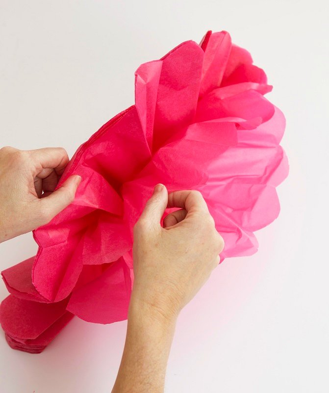How To Make Tissue Paper Pom Poms Video College Paper Academic