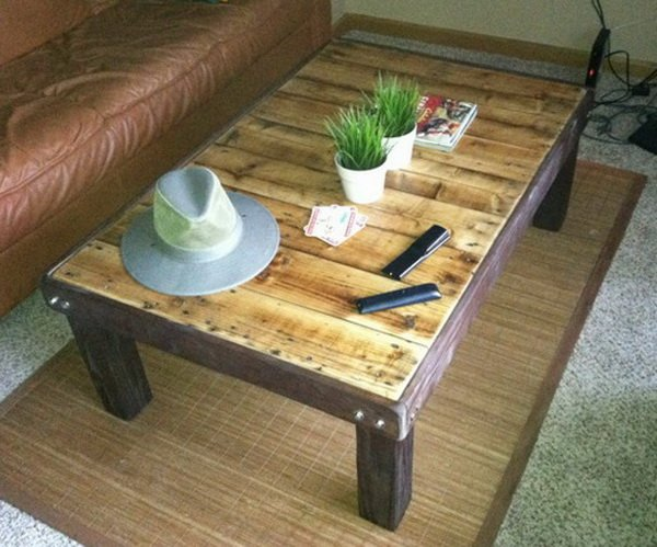 18 diy pallet coffee tables guide patterns - How to make table out of wood pallets ...