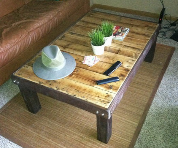 18 diy pallet coffee tables guide patterns for How to make furniture out of wood pallets