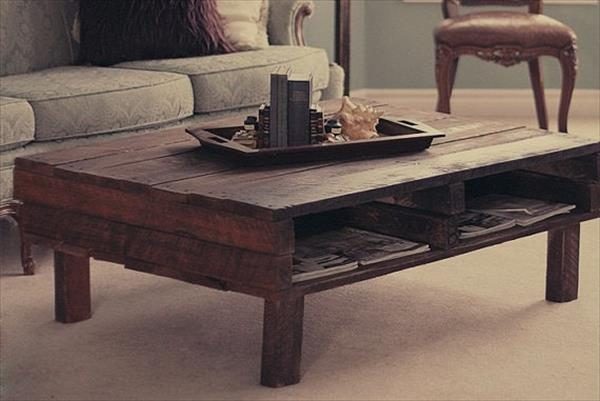 18 diy pallet coffee tables guide patterns for Coffee table made out of wooden crates