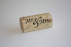 Personalized Wine Cork Place Card Holder