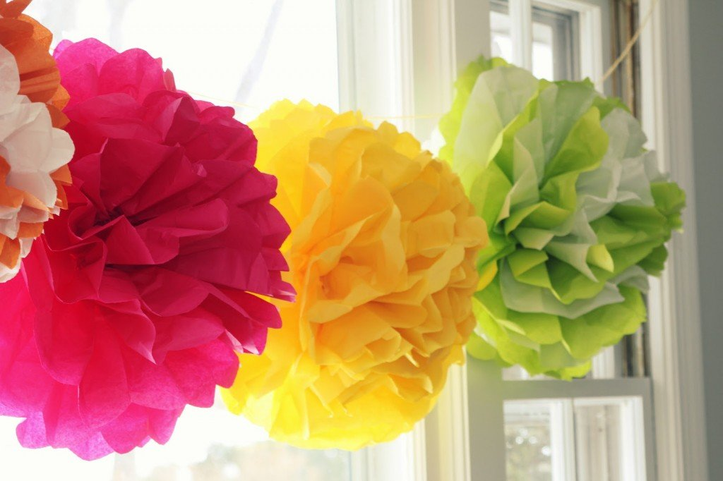 tissue paper pom poms tutorial It's actually a tissue paper pom pom you may remember making these in  kindergarden out of kleenex yes a kindergarden craft was the hit of.
