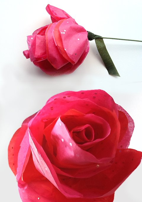 13 diy tissue paper roses guide patterns tissue paper rose mightylinksfo