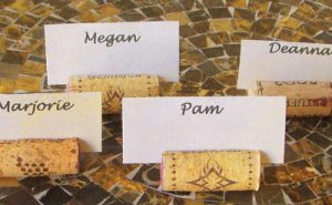 Wine Cork Card Holder