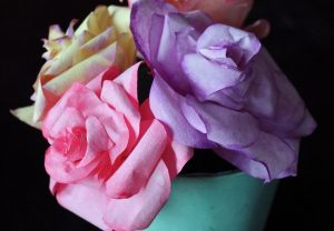 Coffee Filter Roses Pattern