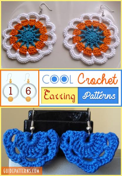 Cool Crochet Patterns : 16 Cool Crochet Earring Patterns Guide Patterns