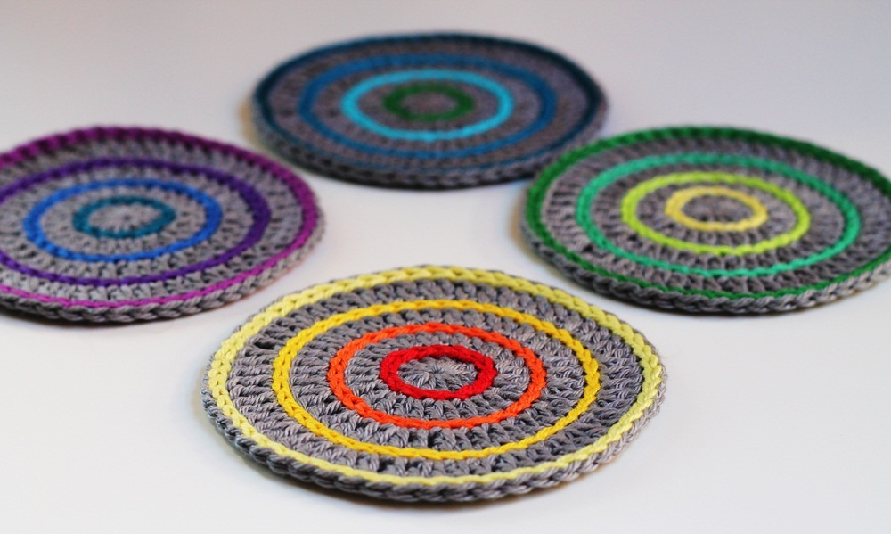 Crocheting Coasters : Crochet Coaster Pattern