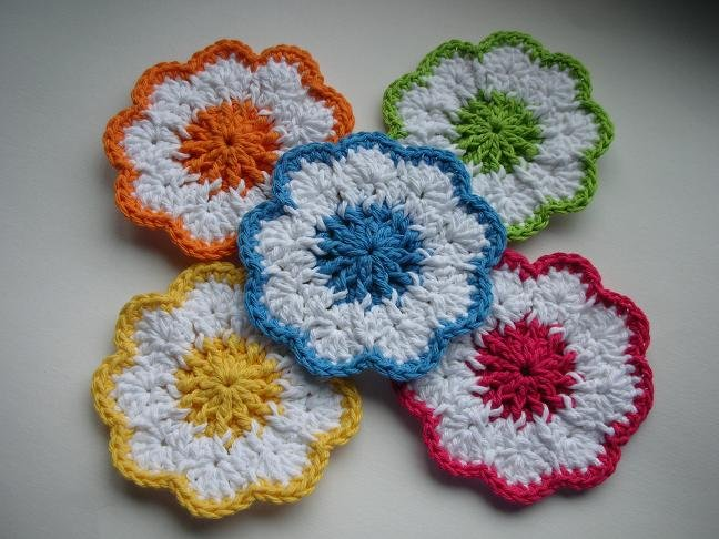 Simple Crochet Flower Pattern Free : 21 Easy Crochet Coaster Patterns Guide Patterns
