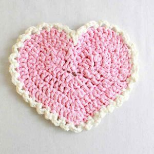 Crochet Heart Placemat Pattern