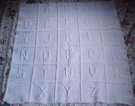 Crochet Letters on Blanket