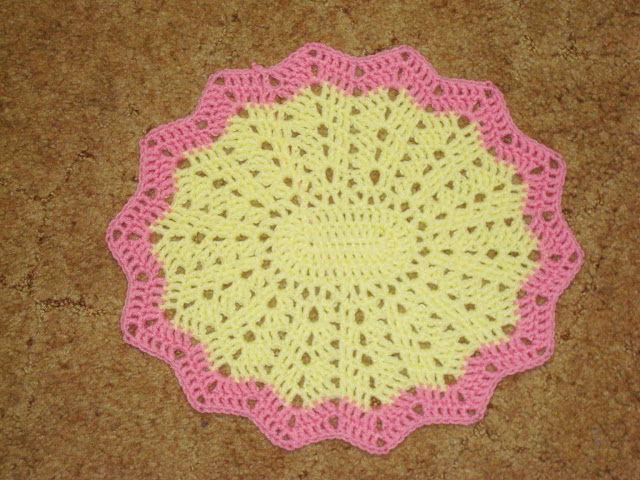 Crocheting Placemats : Crochet Placemat Pattern