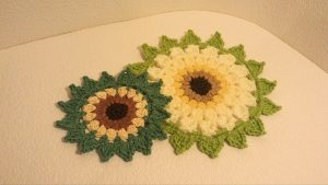 Crochet Sunflower Placemats
